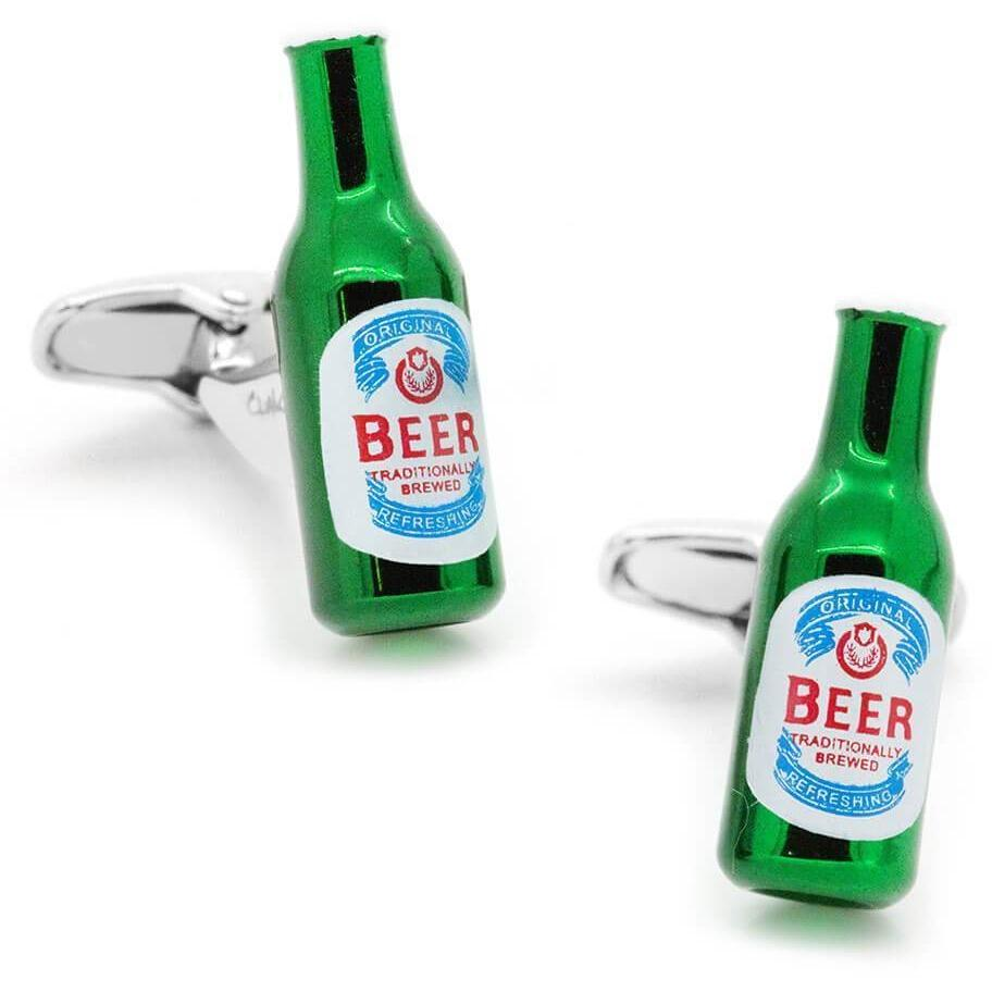Italian Style Green Beer Bottle Cufflinks, Novelty Cufflinks, Cuffed.com.au, CL6032, $29.00