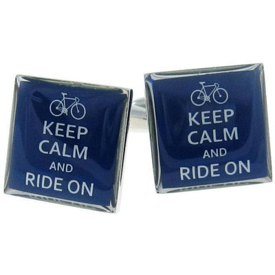 Keep Calm and Ride On Cufflinks Novelty Cufflinks Clinks Australia Keep Calm and Ride On Cufflinks