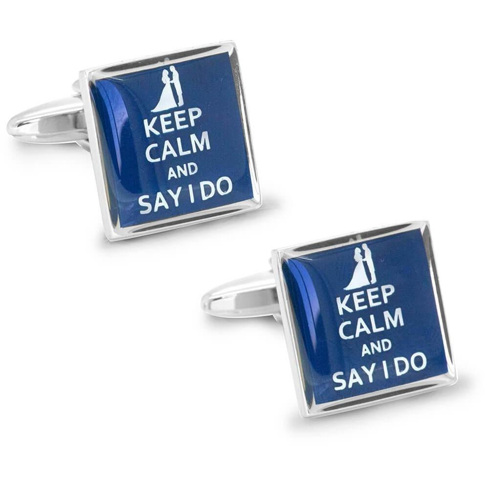 Keep Calm and Say I Do Cufflinks, Novelty Cufflinks, Cuffed.com.au, CL8469, $29.00