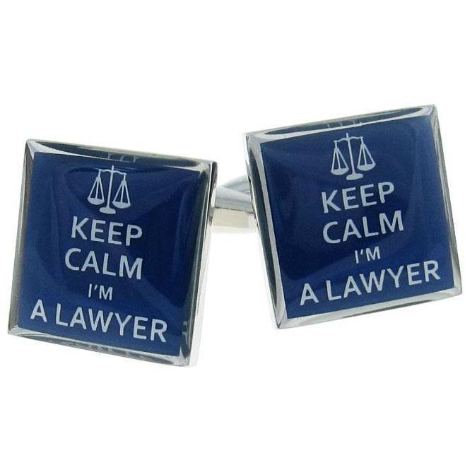 Keep Calm I'm a Lawyer Cufflinks, Novelty Cufflinks, Cuffed.com.au, CL8462, $29.00