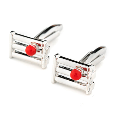 Cricket Wicket and Red Ball Cufflinks Novelty Cufflinks Clinks Australia Cricket Wicket and Red Ball Cufflinks