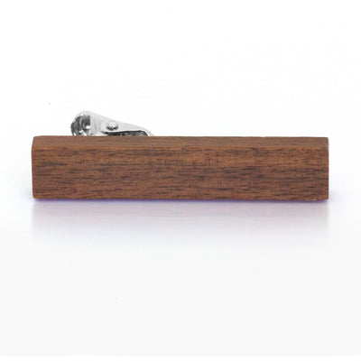 Large Dark Wood Tie Clip Clinks Australia