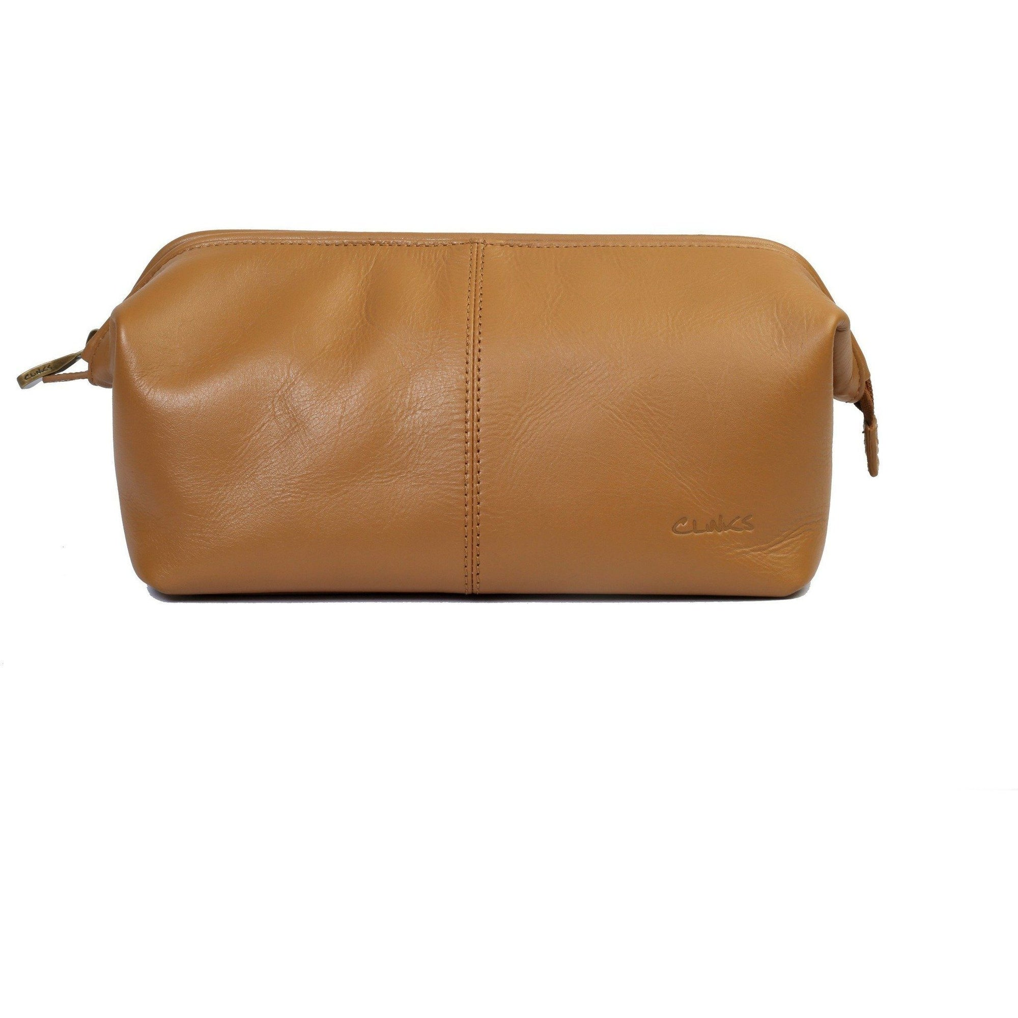 Large Leather Toiletry Dopp Bag in Tan, Leather Accessories, Cuffed.com.au, LB1020, $99.00
