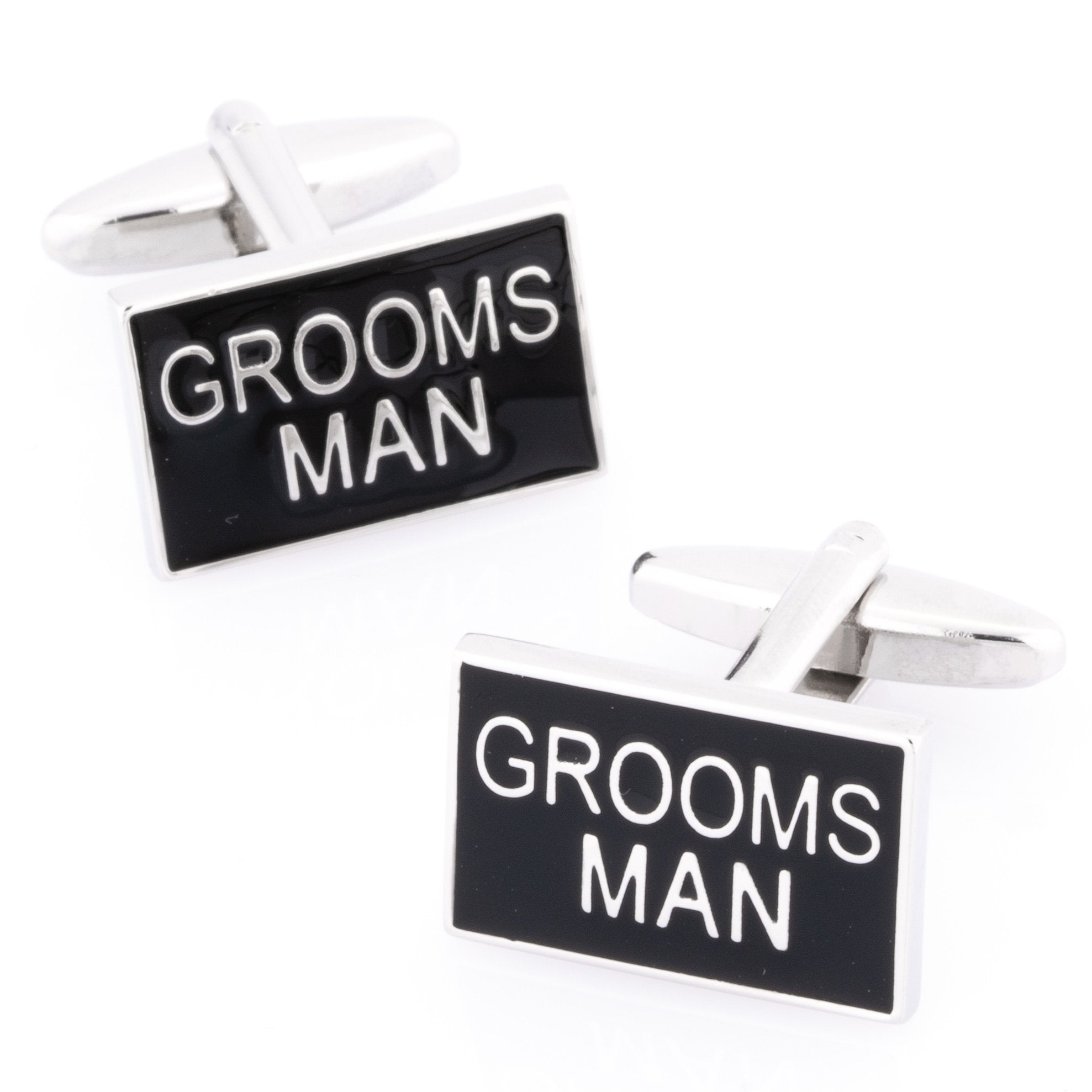 Grooms Man Black and Silver Wedding Cufflinks Wedding Cufflinks Clinks Australia