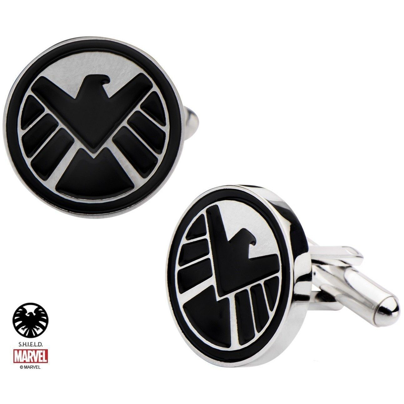 Marvel S.H.I.E.L.D Cufflinks in Stainless Steel, Novelty Cufflinks, Cuffed.com.au, CL5856, $65.00