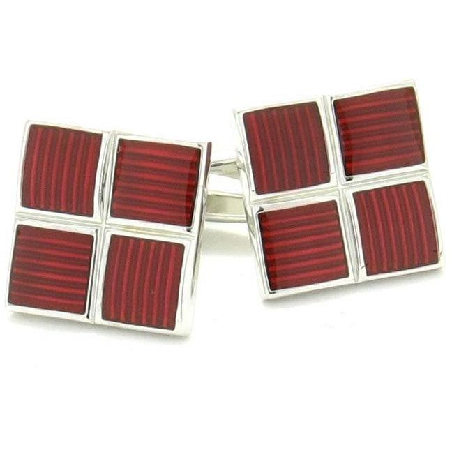 Metallic Red Cufflinks Classic & Modern Cufflinks Clinks Australia Metallic Red Cufflinks