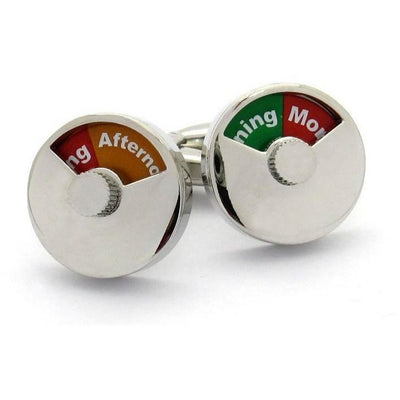 Morning Afternoon and Night Cufflinks Clinks Australia