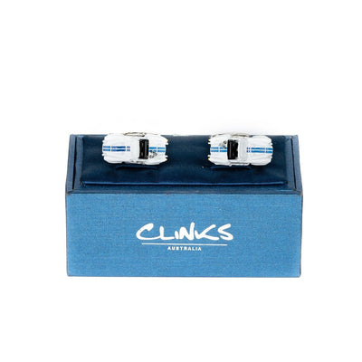 Blue White Classic Sports Car Cufflinks (AC Shelby Cobra) Novelty Cufflinks Clinks Australia