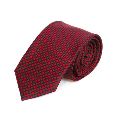 Red and Black Weave MF Tie