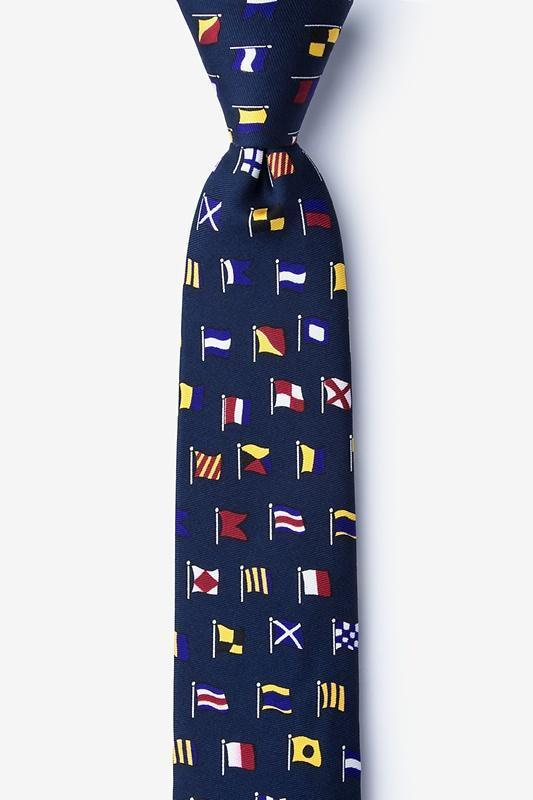 A-Z International Flags Skinny Tie , Ties Alynn , Mens Ties ,TI4026 , Cuffed , Clinks