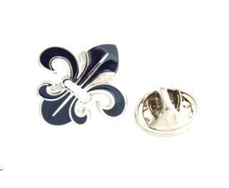 Fleur De Lis Lapel Pin in Blue Lapel Pin Clinks Australia Default