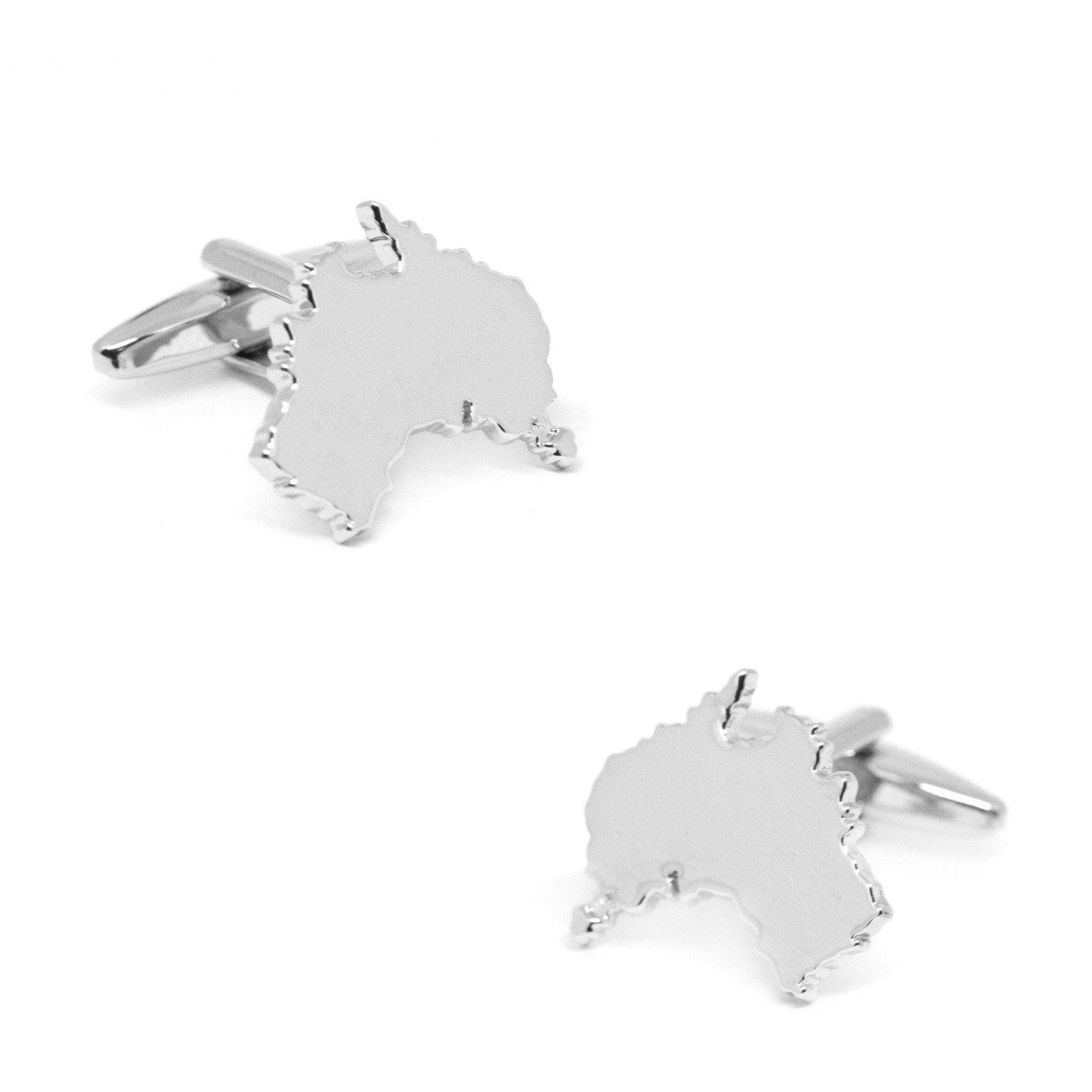 Outline Australian Map Cufflinks, Novelty Cufflinks, Cuffed.com.au, CL8507, $29.00