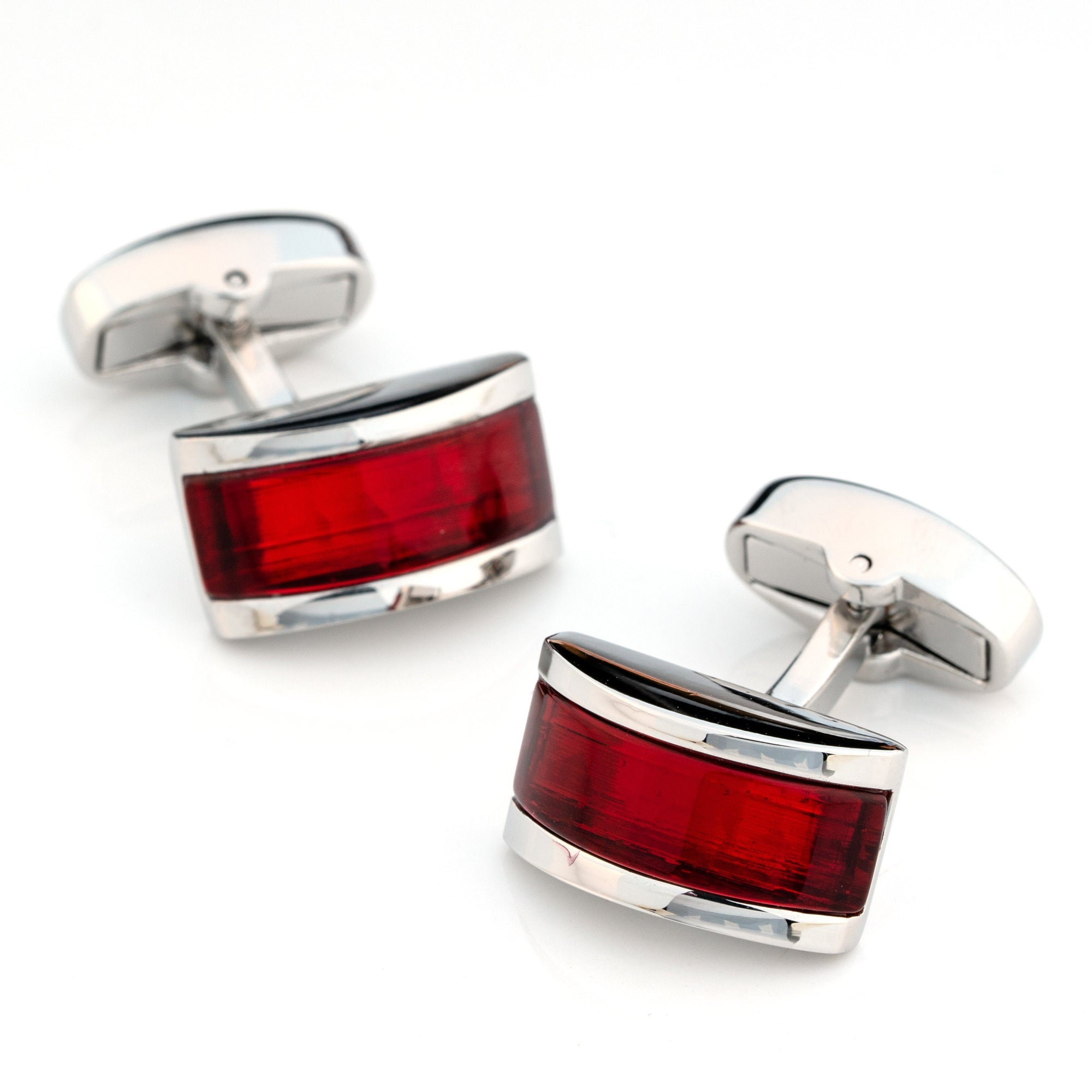 Ruby Red Cateye Cufflinks Classic & Modern Cufflinks Clinks Australia