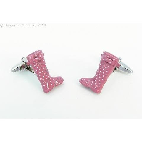 Pink Gum Boot Cufflinks, Novelty Cufflinks, Cuffed.com.au, ZBC2414, $46.20