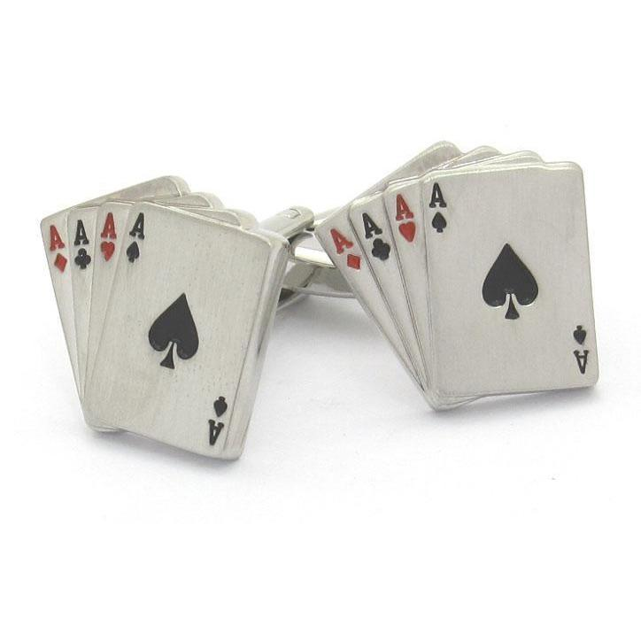 """Poker Ace"" Playing Cards Cufflinks, Novelty Cufflinks, Cuffed.com.au, CL6200, $29.00"