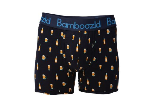 Mens Underwear Trunk - Beer Underwear Bamboozld Small 80-85cm