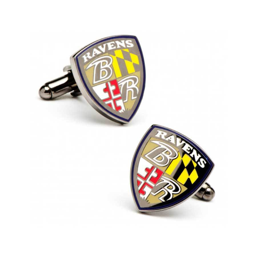 Baltimore Ravens Cufflinks , Novelty Cufflinks , CL6048 ,  Mens Cufflinks , Cufflinks , Cuffed , Clinks , Clinks Australia