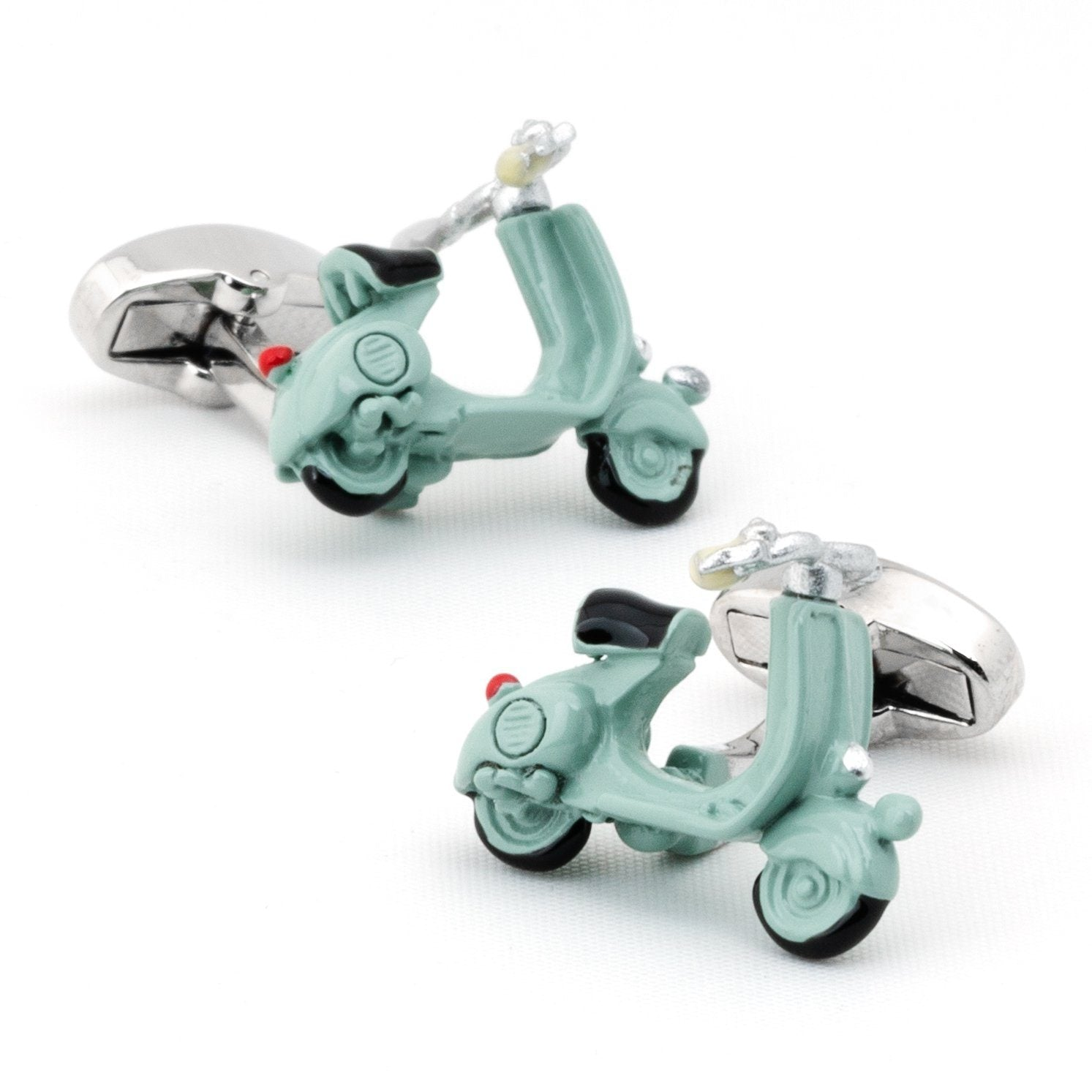 Light Blue 3D Vespa Scooter Cufflinks Novelty Cufflinks Clinks Australia