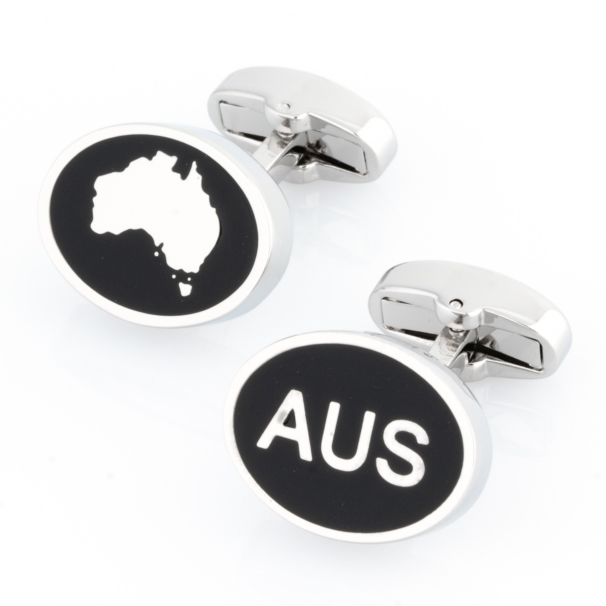 Australian Map and AUS Cufflinks , Novelty Cufflinks , CL8505 , Mens Cufflinks , Cufflinks , Cuffed , Clinks ,Clinks Australia