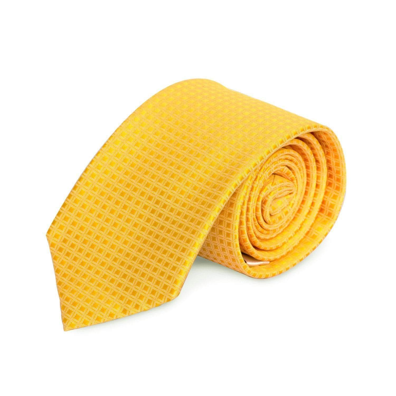 Yellow Square MF Tie Ties Cuffed.com.au