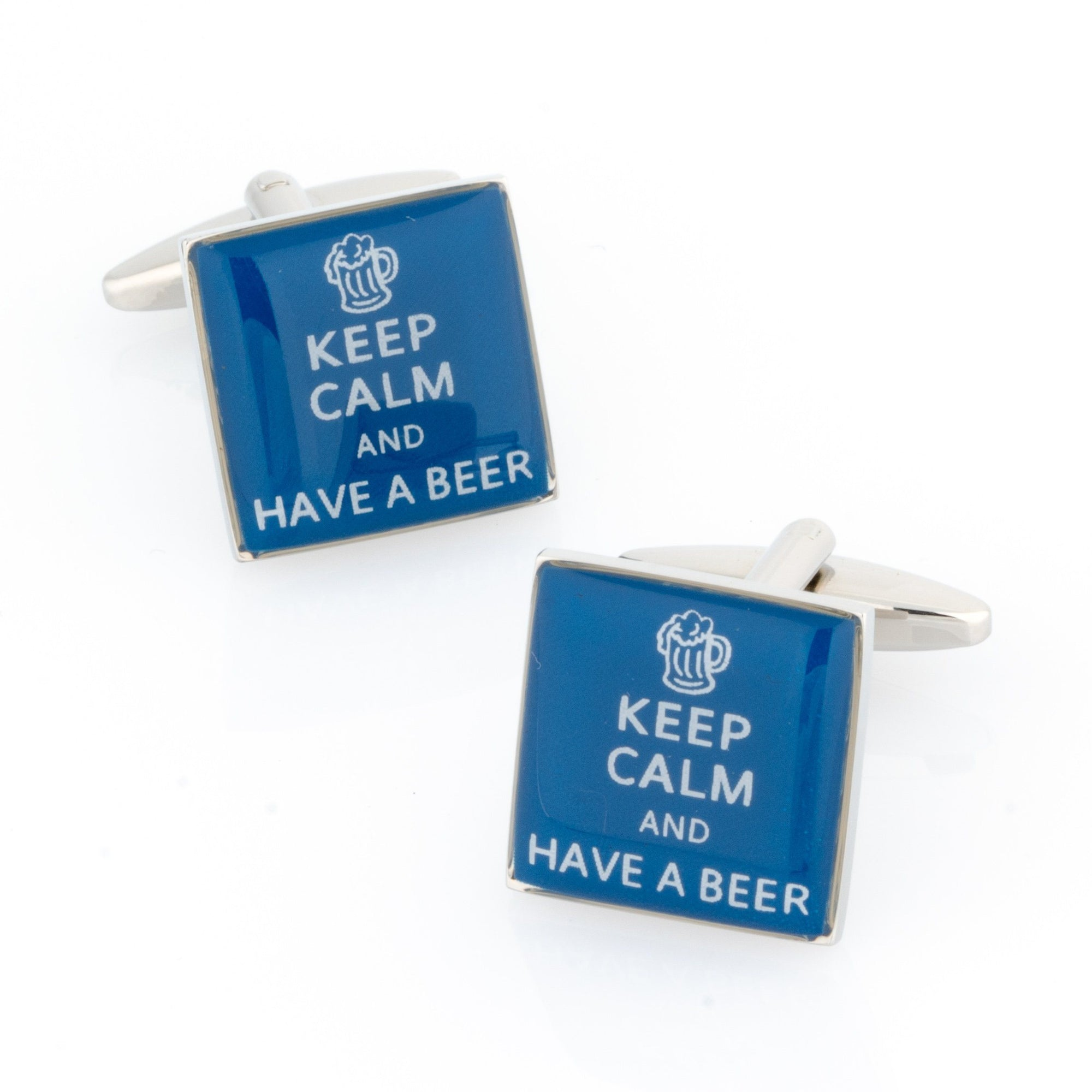 Keep Calm and Have a Beer Cufflinks