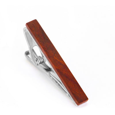 Red Wood Small Tie Clip Tie Bars Clinks Australia