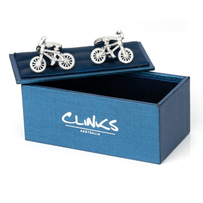 Silver Bicycle Cufflinks Novelty Cufflinks Clinks Australia