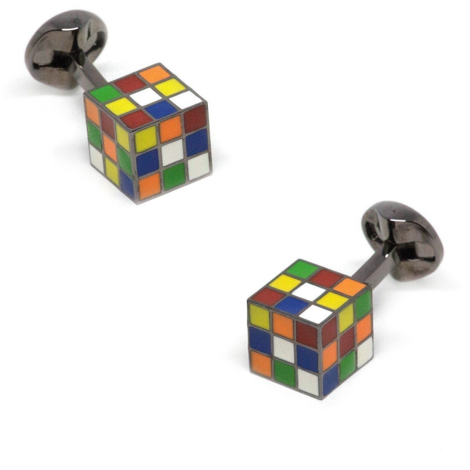 Rubiks Cube Cufflinks, Novelty Cufflinks, Cuffed.com.au, CL8725, $29.00