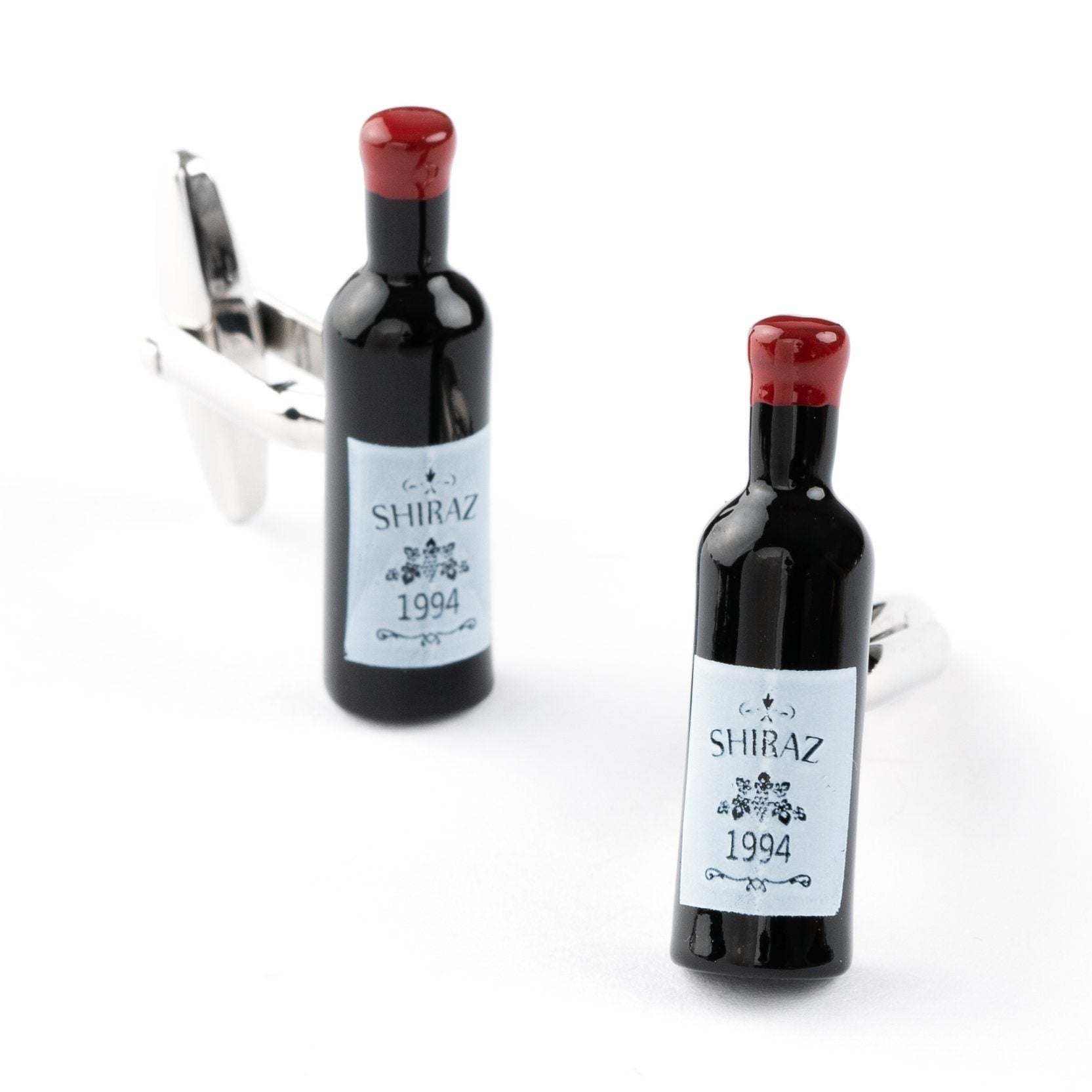 Shiraz Red Wine Bottle Cufflinks Novelty Cufflinks Clinks Australia