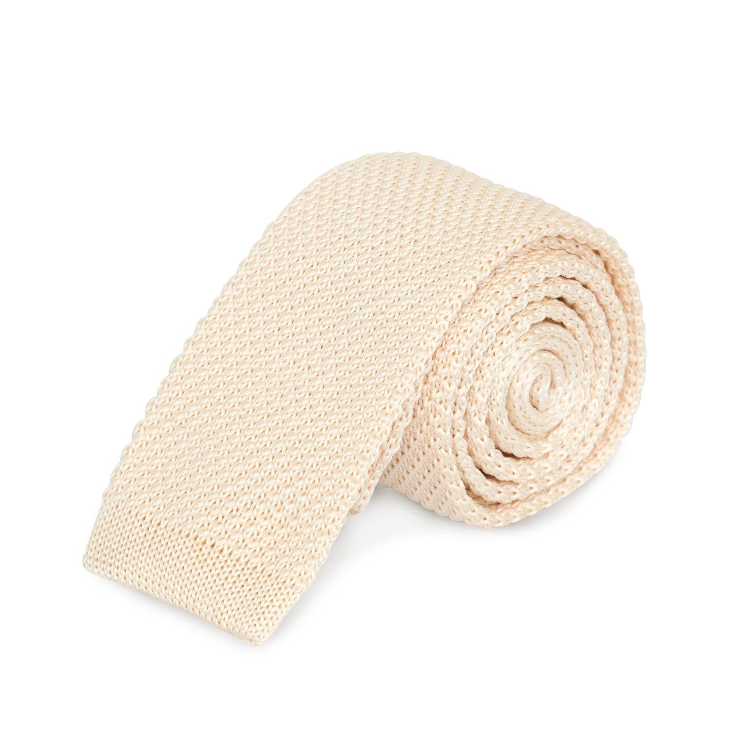 Cream Knit Tie Ties Cuffed.com.au