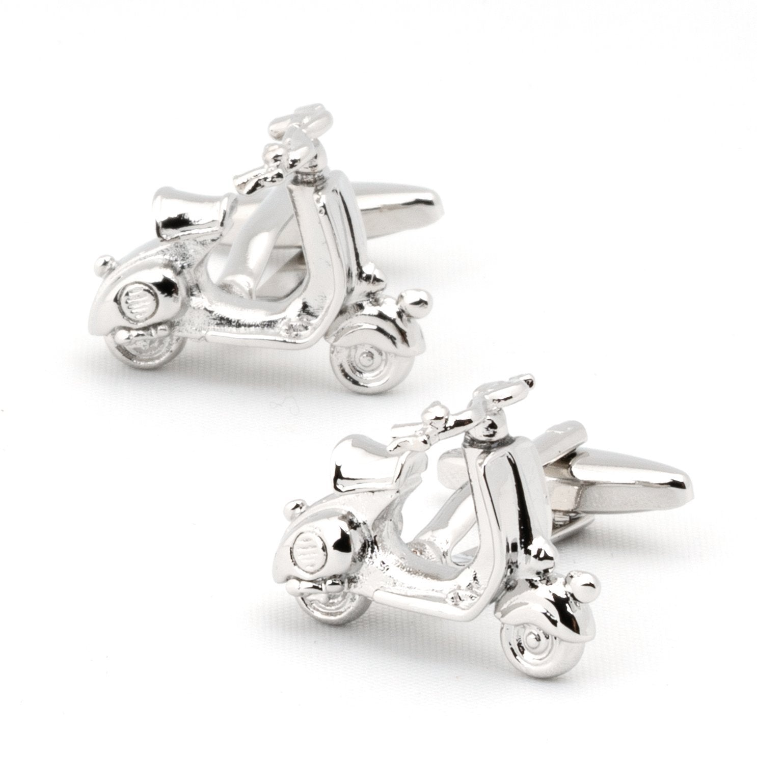 Silver 3D Vespa Scooter Cufflinks Novelty Cufflinks Clinks Australia Silver 3D Vespa Scooter Cufflinks