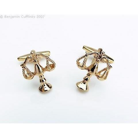 Scales of Justice (gold) Cufflinks, Novelty Cufflinks, Cuffed.com.au, ZBC2637, $38.50