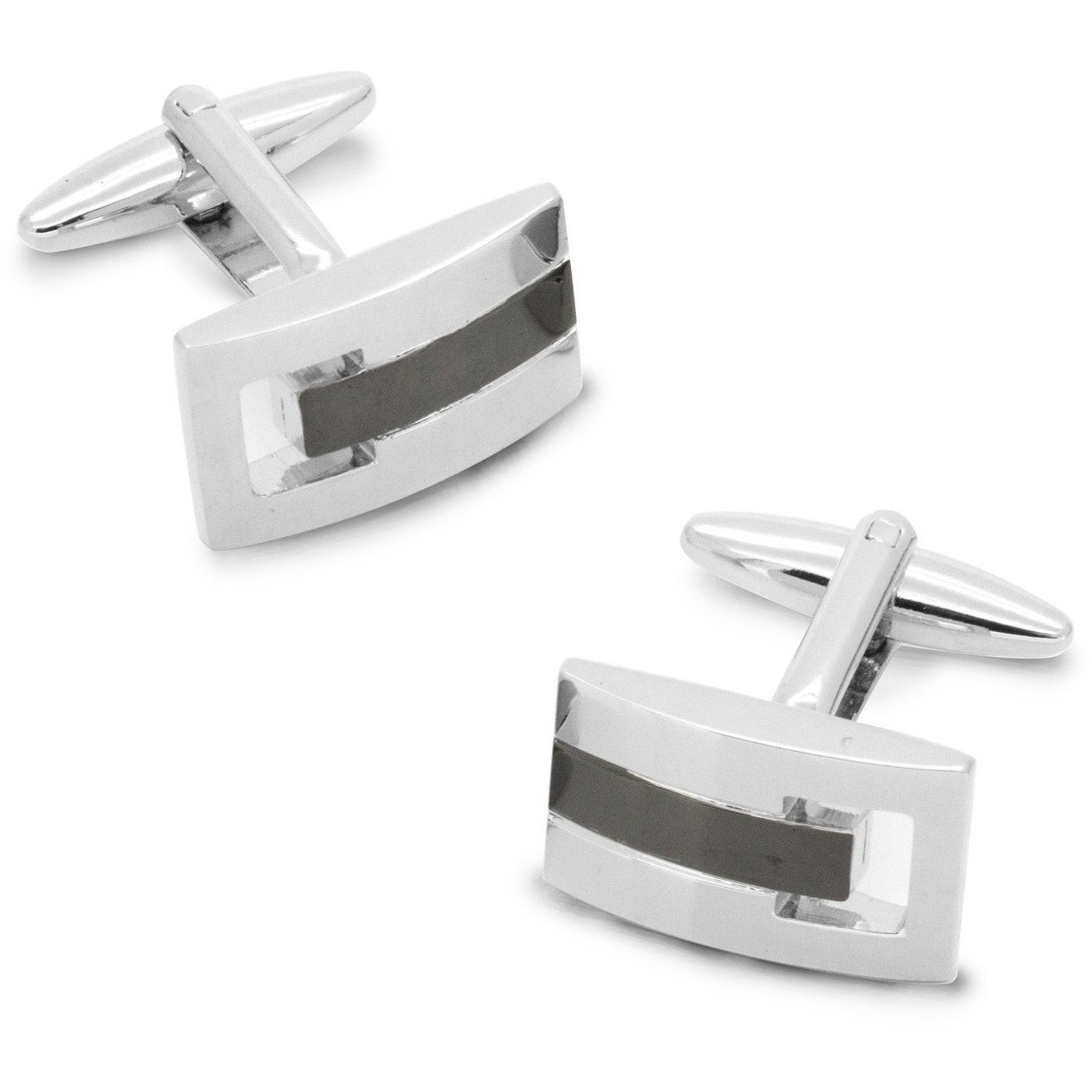 Silver and Gunmetal Cufflinks Classic & Modern Cufflinks Clinks Australia Silver and Gunmetal Cufflinks