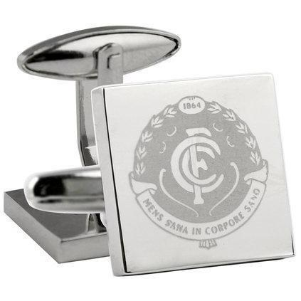 Silver Carlton Football Club AFL Cufflinks Novelty Cufflinks AFL Silver Carlton Football Club AFL Cufflinks
