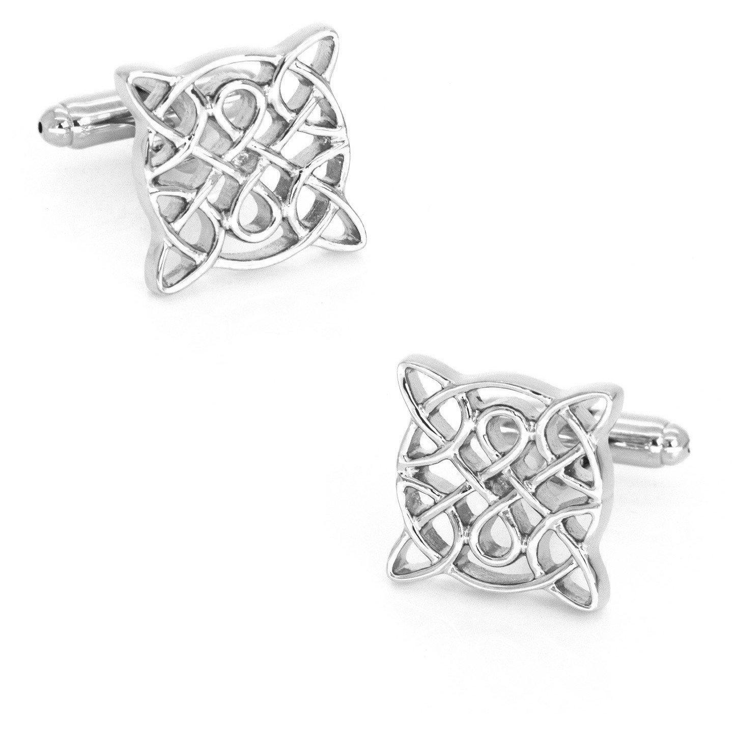Silver Celtic Square Knot Cufflinks Novelty Cufflinks Clinks Australia Silver Celtic Square Knot Cufflinks