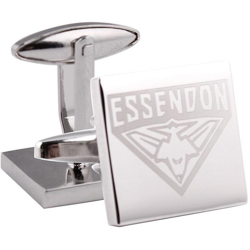 Silver Essendon FC AFL Cufflinks Novelty Cufflinks AFL Silver Essendon FC AFL Cufflinks