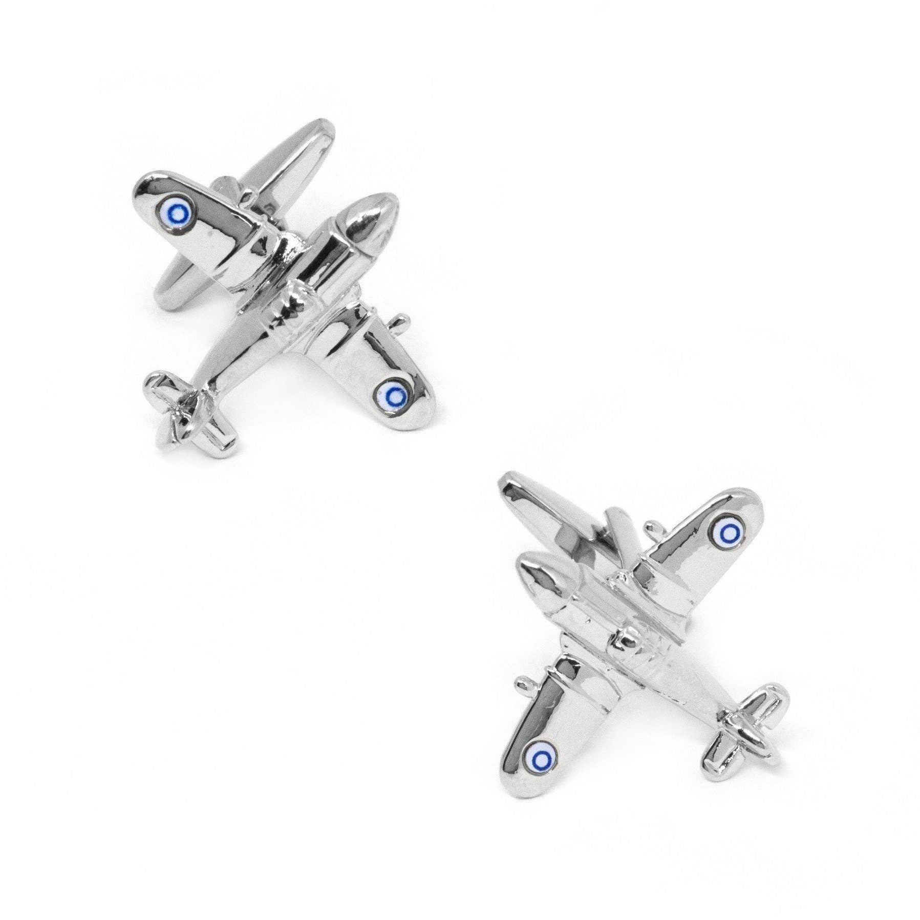 Silver Fighter Jet Plane Cufflinks Clinks Australia