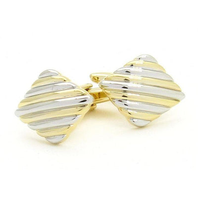 Silver/Gold Lined Cufflinks Classic & Modern Cufflinks Clinks Australia Silver/Gold Lined Cufflinks