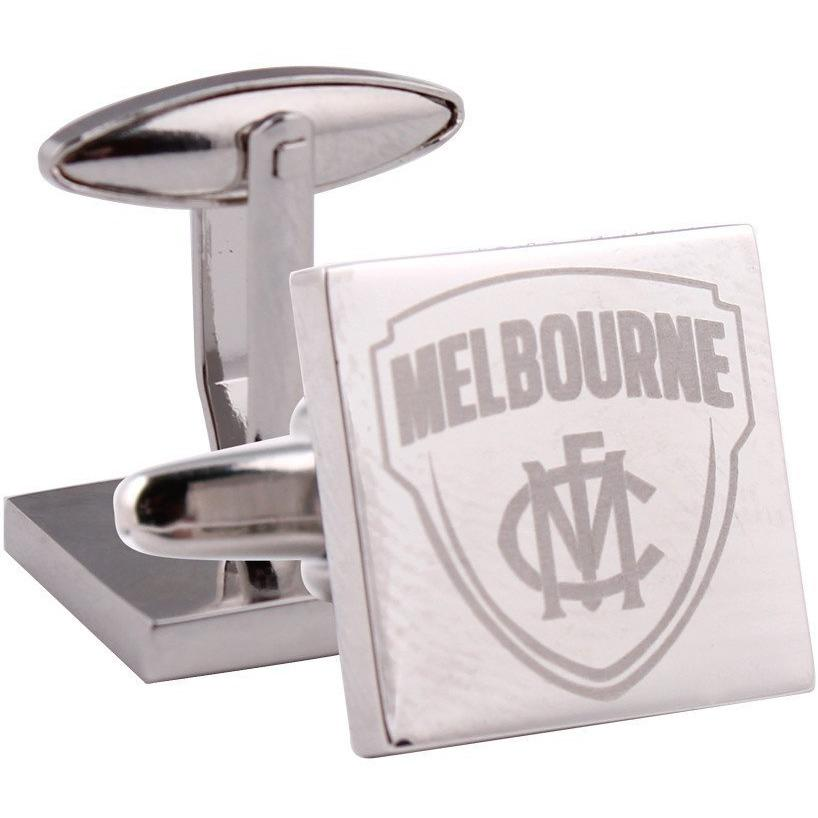 Silver Melbourne FC AFL Cufflinks Novelty Cufflinks AFL Silver Melbourne FC AFL Cufflinks