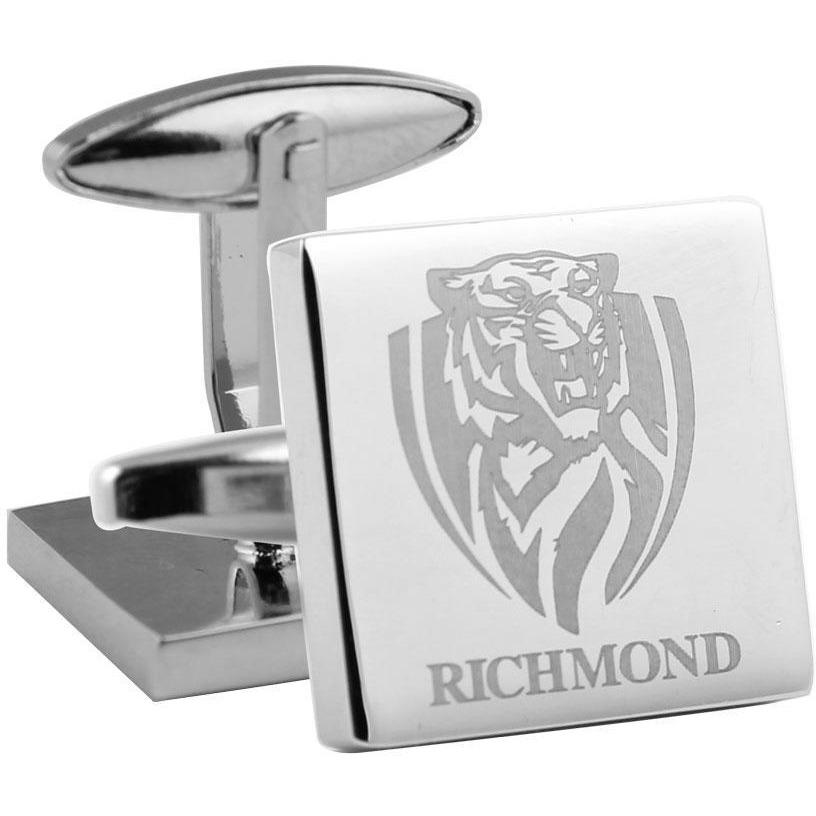 Silver Richmond FC AFL Cufflinks Novelty Cufflinks AFL Silver Richmond FC AFL Cufflinks