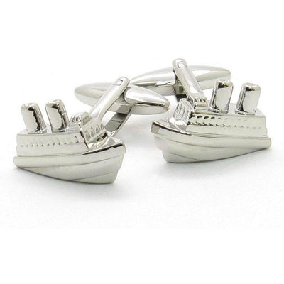 Silver Ship Cufflinks Novelty Cufflinks Clinks Australia Silver Ship Cufflinks
