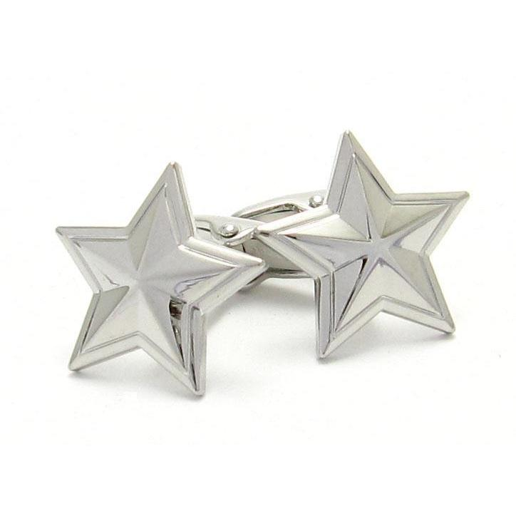 Silver Star Cufflinks, Novelty Cufflinks, Cuffed.com.au, CL8322, $29.00