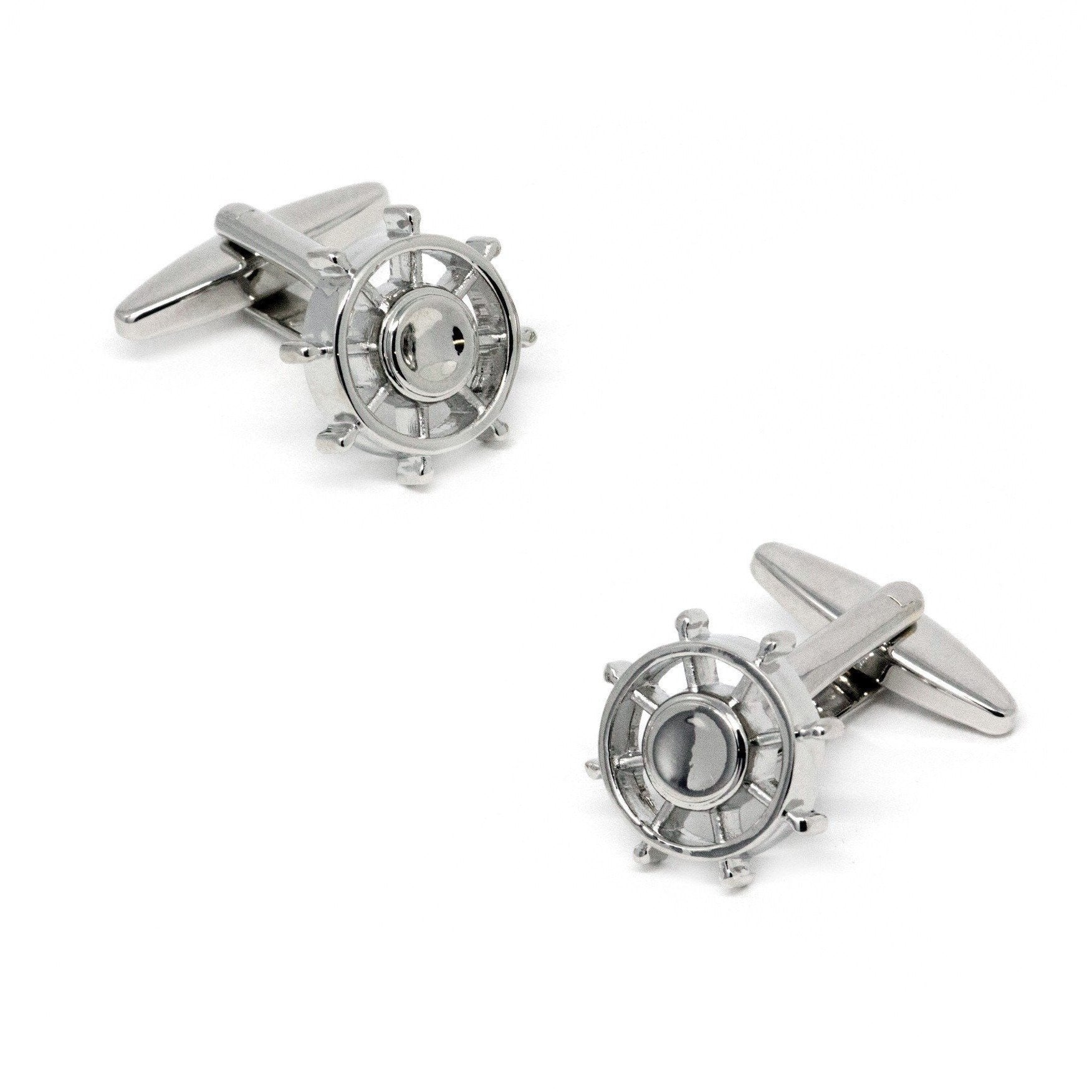 Silver Wheel Fidget Spinner Cufflinks, Novelty Cufflinks, Cuffed.com.au, CL8756, $29.00