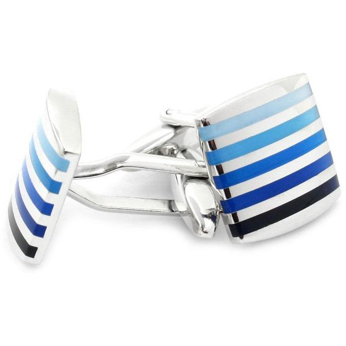Silver with Blues Cufflinks, Classic & Modern Cufflinks, Cuffed.com.au, CL2180, $29.00