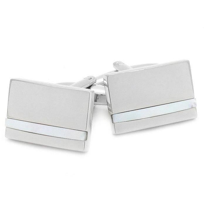 Silver with Mother of Pearl, Classic & Modern Cufflinks, Cuffed.com.au, CL2271, $29.00