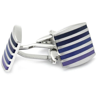 Silver with Purples Cufflinks Classic & Modern Cufflinks Clinks Australia Silver with Purples Cufflinks