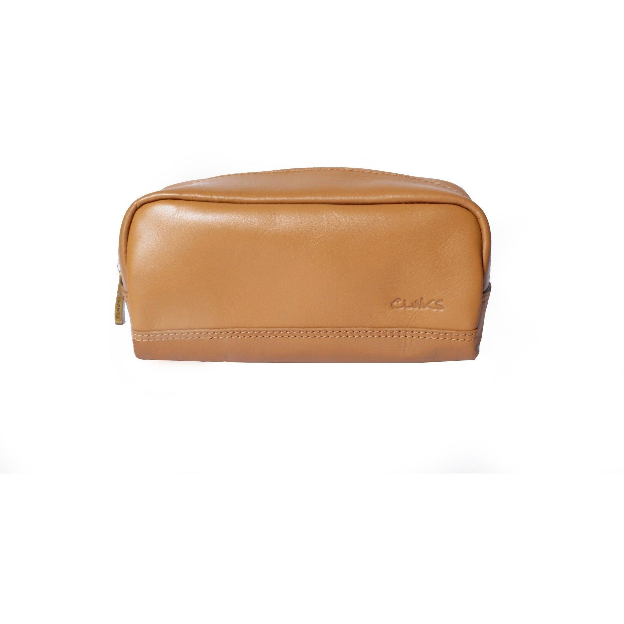 Small Leather Toiletry Bag in Tan, Leather Accessories, Cuffed.com.au, LB1010, $29.00