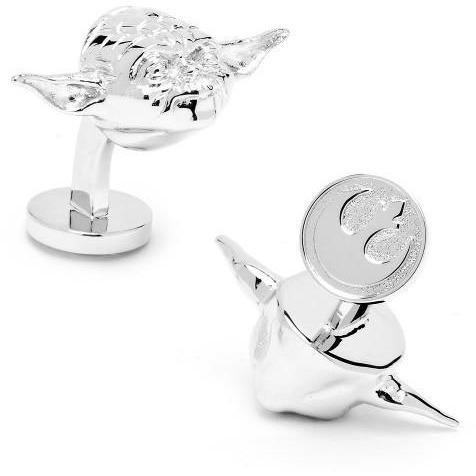 Star Wars 3D Palladium Yoda Cufflinks, Novelty Cufflinks, Cuffed.com.au, CL5884, $125.00