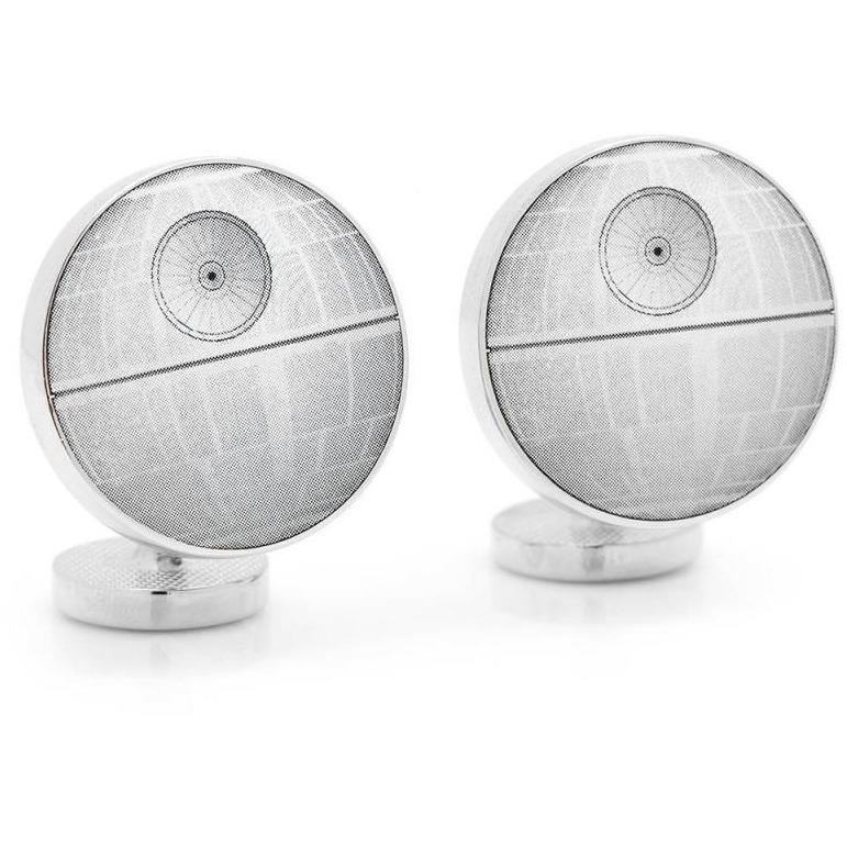 Star Wars Death Star Blueprint Cufflinks, Novelty Cufflinks, Cuffed.com.au, CL5887, $69.00