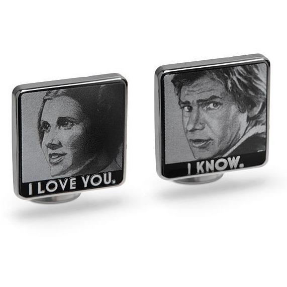 Star Wars I Love You I Know Cufflinks, Novelty Cufflinks, Cuffed.com.au, CL5899, $69.00